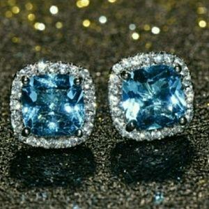 🎀 Sunning Aquamarine Earring Studs